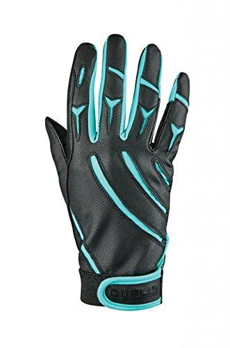 - Dublin Adults Elite Schooling Gloves - Black/Aqua - Small