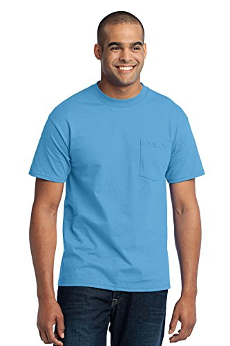 Port & Company Men's Tall 50/50 Cotton/Poly T Shirt with 3XLT Aquatic Blue