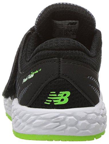 New Balance Kids Fresh Foam Zante V3 Hook and Loop Road Running Shoe Black/Gree