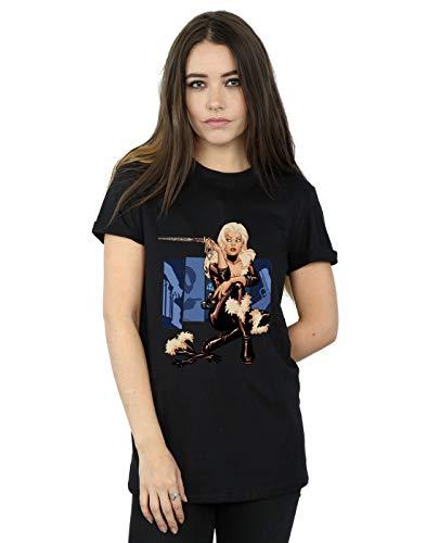 Cat Camiseta Fit Novio Marvel Universe Black Negro Cover Del Mujer BqOH4A