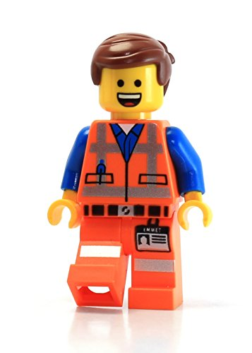 LEGO Movie Masterbuilder Emmet Minifigure (Open Mouth Smile and Angry Faces) (70814 Lego Movie)