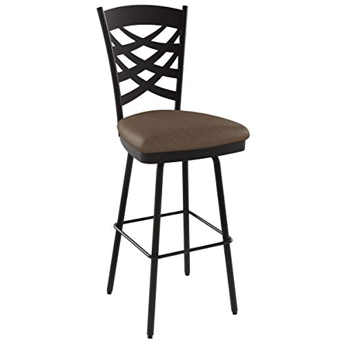 (Amisco Nest Swivel Metal Barstool with Backrest, 30-Inch, Cobrizo/Amazon)