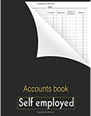 Accounts book self employed: Accounting book   business bookkeeping record book - income and expense log book - financial ledger - Journal For Sole Trader - Small businesses   Compliant with accounting obligations, A4 large