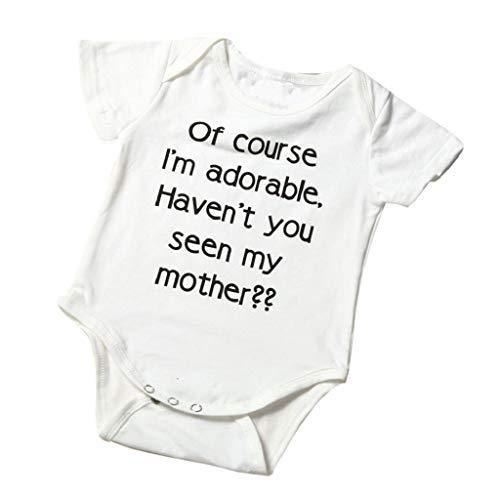 terbklf Newborn Infant Toddler Baby Boys Girls Summer Elegant Letter Print Romper Jumpsuit Outfits Clothes