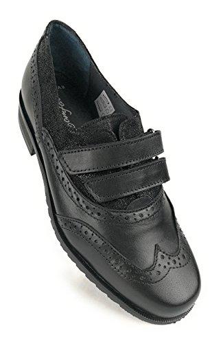 Zerimar Damen Leder Schuhe Bequeme Schuhe Frauen Schuh Weiches Leder Schuhe Lederschuhe Damen Schwarz6,5