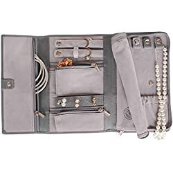 Saffiano Leather Travel Jewelry Case - Jewelry Organizer [Petite] by Case Elegance