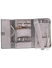 Genuine Leather Travel Jewelry Case - Jewelry Organizer [Petite] by Case Elegance …
