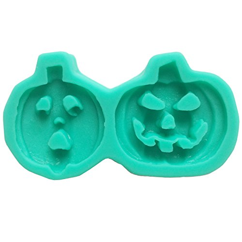 Food Grade PUMPKIN HEAD halloween sugarcraft silicone mould candy silicon mold, Food Grade, non stick flexible Sugar paste, Chocolate, Fondant, Butter, Resin, Cabochon, Polymer Clay Mold, 7.2*7.2*1.7cm, per hole 6*2.7cm -