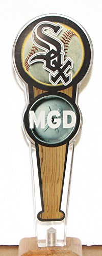 - MGD miller genuine draft beer Chicago white sox Tap Handle knob marker acrylic lucite 10.25