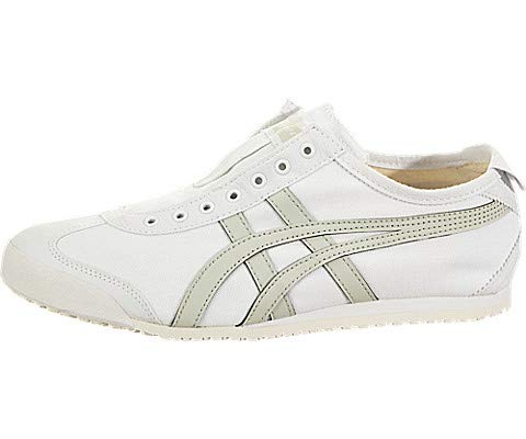 Onitsuka Tiger by Asics Unisex Mexico 66¿ Slip-On White/Light Sage 6 Women / 4.5 Men M US ()