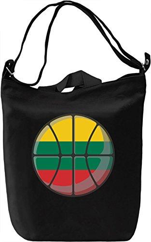Lithuania Basketball Borsa Giornaliera Canvas Canvas Day Bag| 100% Premium Cotton Canvas| DTG Printing|
