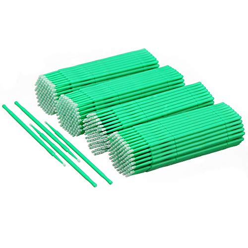 osable Micro Applicators Brush Eyelash Extension Individual Applicators Mascara Brush for Make up and Clean and Compatible and Personal Care (Green) ()
