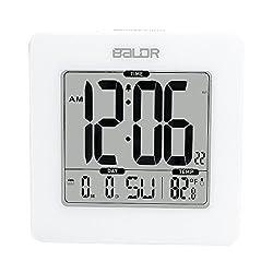 BALDR Atomic Digital Alarm Clock, White