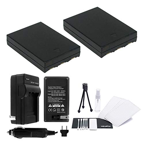 UltraPro 2-Pack NB-3L Replacement Batteries w/Rapid Travel Charger for Canon PowerShot SD550, SD500, SD110, SD100 - UltraPro Bundle Includes: Camera Cleaning Kit, Screen Protector, Mini Travel Tripod