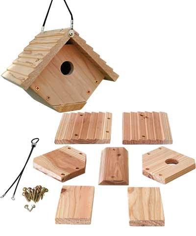 (BestNest Club Pack of 6 Woodlink Wren House Kits )