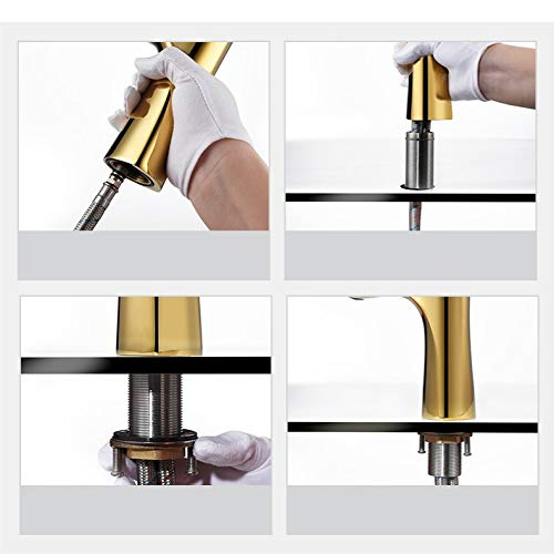 Conventional4 Sink faucet, kitchen toilet sink faucet faucet faucet solid brass brushed nickel stainless steel lead-free (color   Upgrade4) e35c07
