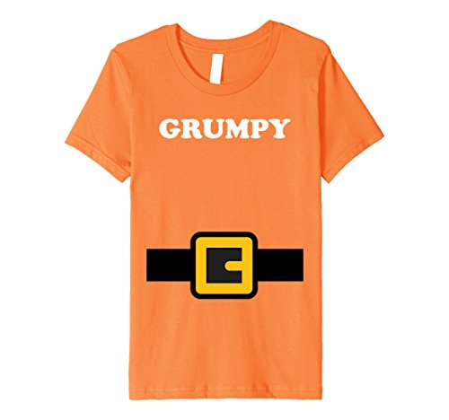 Kids Dwarf Costume Shirt, Halloween Matching Shirts, Grumpy 8 Orange