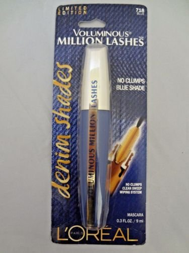 e58f3855afa Buy Loreal Limited Edition Voluminous Million Lashes Denim Shades Mascara - 718  Blue Online at Low Prices in India - Amazon.in
