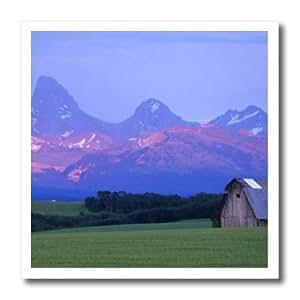 ht_89967_3 Danita Delimont - Barns - Rustic barn, wheat field, Teton Mountain Range, Idaho - US13 CHA0079 - Chuck Haney - Iron on Heat Transfers - 10x10 Iron on Heat Transfer for White Material