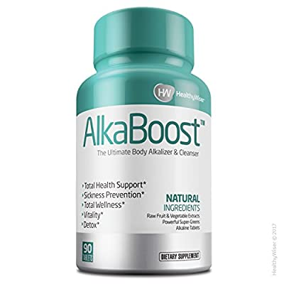 ALKA BOOST™ MultiVitamin For Healthy pH Balance, Alkaline Booster & Immune System Support. Natural Detox & Sickness Prevention - Promotes Energy Clarity and Focus - Green and Wholefood Blend, 90ct