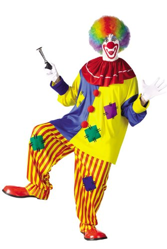 Cool Clown Costume (Fun World Men's Big Top Clown Costume, Multicolored, One)