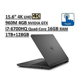 "Dell Inspiron 7000 i7559 15.6"" UHD (3840x2160) 4K Touchscreen Gaming Laptop: Intel Quad-Core i7-6700HQ | 16GB RAM | NVIDIA GTX 960M 4GB | 1TB + 128GB SSD | Backlit Keyboard | Windows 10 - Grey"