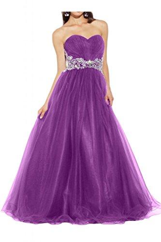 Toscana sposa adorabile a forma di cuore e stelle tulle stanotte vestimento lunga un'ampia Party ball vestimento viola 44