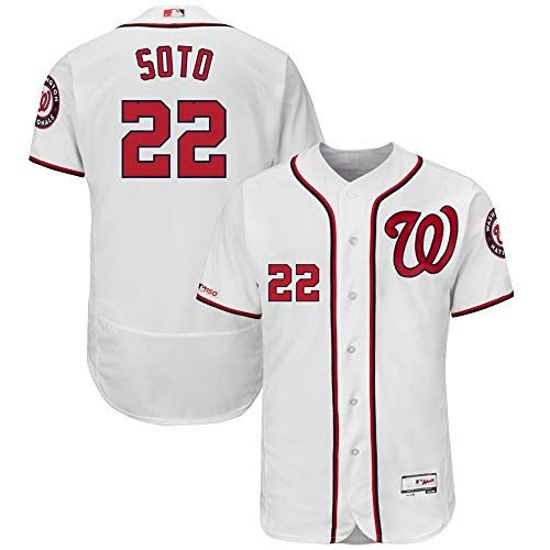 #22 Juan Soto Washington Nationals Home Flex Base Collection Player Jersey - White M