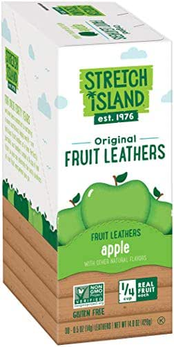 Stretch Island Apple Fruit Leather, 0.5-ounce Bags (Pack of 30)