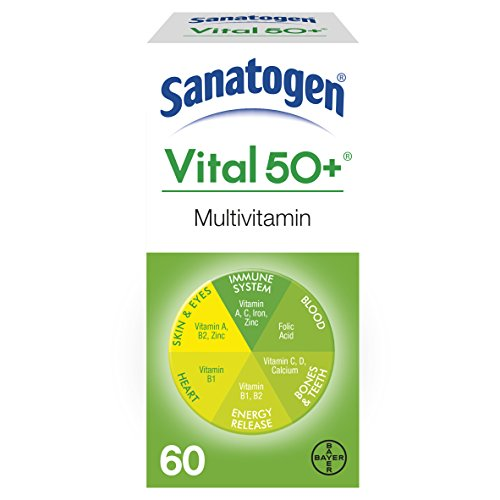 Sanatogen Vital 50+ Multi Vitamin & Mineral Supplement With Ginkgo & Ginseng 60 (Ginkgo 50 Tab)