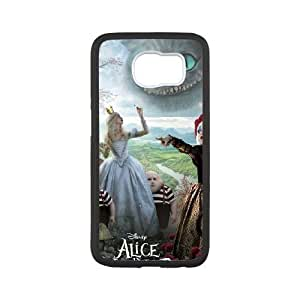 samsung galaxy s6 Case, Alice in Wonderland Cell phone case Black for samsung galaxy s6 - SDFG8754220
