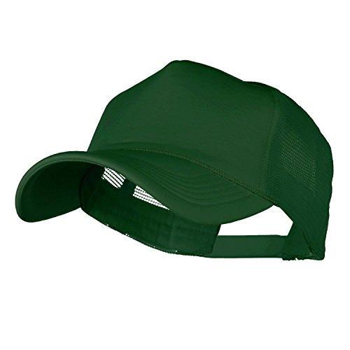 Unisex Foam Trucker Baseball Cap Snapback Adjustable Hat Strap Summer (One Size, DARK GREEN) (Dark Green Baseball Hat)