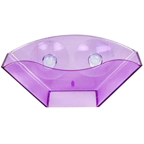Kitchen Sponge Rack,Kitchen Bathroom Draining Suction Cup Sink Holder Sponge Soap Brush Storage Rack,Tuscom (Purple)