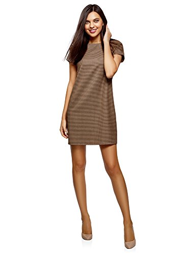 Abito Donna Collection Beige Dritto Basic oodji 3366c ET6qw