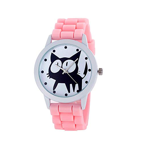 (Waist Watch Women Children Watches Kitty Cat Silicone Quartz Movement Wrist Watches Luxury Bracelet Relogio Feminino Montre Femme Saat)