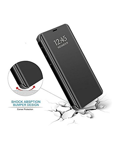 for iPhone Xs Max//X Case Mirror Design Clear View Flip Bookstyle Luxury Protecter Shell with Kickstand Case Cover for iPhone Xs//XR