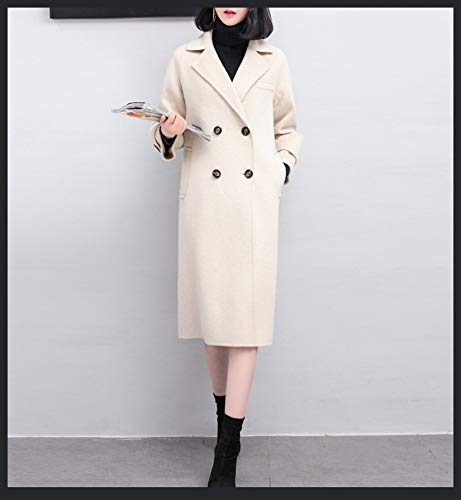 s Vintage E Da Giacca Lana Inverno A Boucle Caldo Donna In Autunno Vento Vioy Coat Maniche bianca Ricamo Lunghe O01fwqUx6