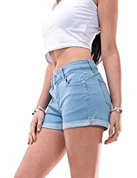 Women's Juniors Perfect Fit Mid-Rise Denim Shorts Regular and Plus Sizes