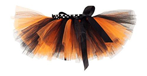 [Princess Bowtique Baby Girl's Tutu 0-2T Orange/Black Halloween] (Baby Halloween Tutus)