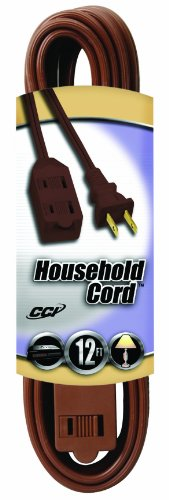 (Coleman Cable 09403 16/2 SPT-2 3-Outlet Cube Tap Extension Cord with Safety Cover, Brown, 12-Feet)