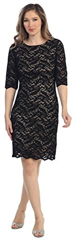 All lace formal gown by Belle Maids 8795S-BLACK/GOLD-3X