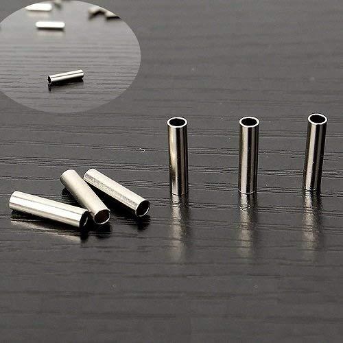 100 ~ 300個1.0 ~ 3.0 mmシングルバレル圧着スリーブfor Monoスチールワイヤ引出線チューブニッケルカラー B0721X9WG7 ID(mm) 3.0*8--100pcs