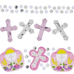 Pink Cross Confetti (Confetti Coumunion Pink Value Pack)
