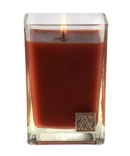 Pumpkin Spice Medium Glass Cube 12oz Candle By (12 Oz Glass Candle)
