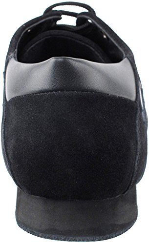 Men's Ballroom Latin Salsa Sneaker Dance Shoes Leather Black SERO106BBXEB Comfortable - Very Fine 8.5 M US [Bundle of 5] by Very Fine Dance Shoes (Image #4)