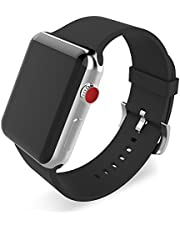 BMBEAR Sports Bands Compatible with Apple Watch Band 38mm 40mm 42mm 44mm Soft Silicone Replacement iWatch Strap for Apple Watch Series 6 Series 5 Series 4 Series 3 Series 2 Series 1