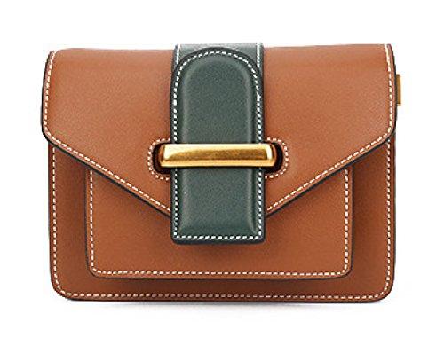YXLONG Nueva Ola Retro Pequeño Bolso Cuadrado Bolso De Hombro De Las Mujeres De Moda Coreana Mini Simple Bolsa De Mensajero,Burgundy brown