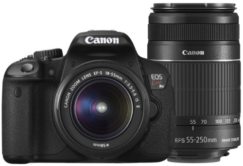 Canon-DSLR-Camera-EOS-Kiss-X6i-with-EF-S18-55mmEF-S55-250mm-International-Version-No-Warranty