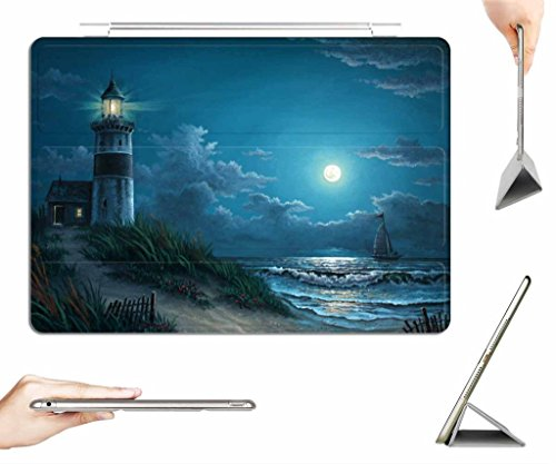 iRocket iPad 2/3/4 Case + Transparent Back Cover, By Kyle Wood Night watch, [Auto Wake/Sleep Function] - Wood Transparent Watch