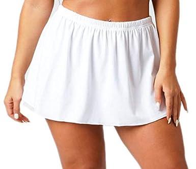 Divas WhiteMini Falda RARA Micro Mini Falda con Cintura elástica ...